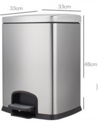AM-53:ถังขยะสแตนเลสมีเท้าเหยียบ 20 ลิตร 